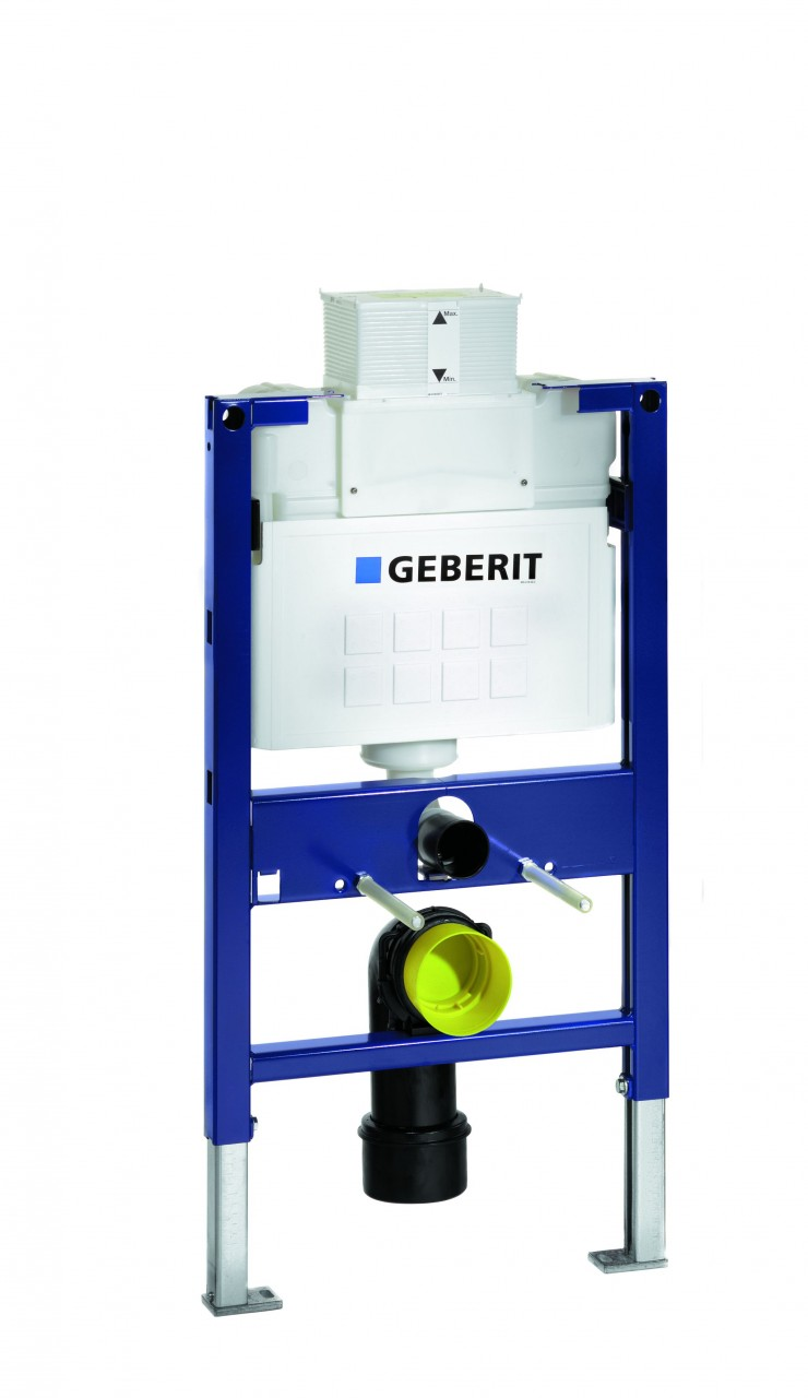Geberit duofix wc frame for wall hung wc h82 with kappa for Cisterna geberit