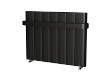 PRISCILLA ALUMINIUM DESIGNER RADIATOR 640x805 -POWDER PAINT BLACK