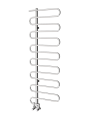 PETRUS STAINLESS STEEL HEATED TOWEL RAIL 1310MM X 450MM