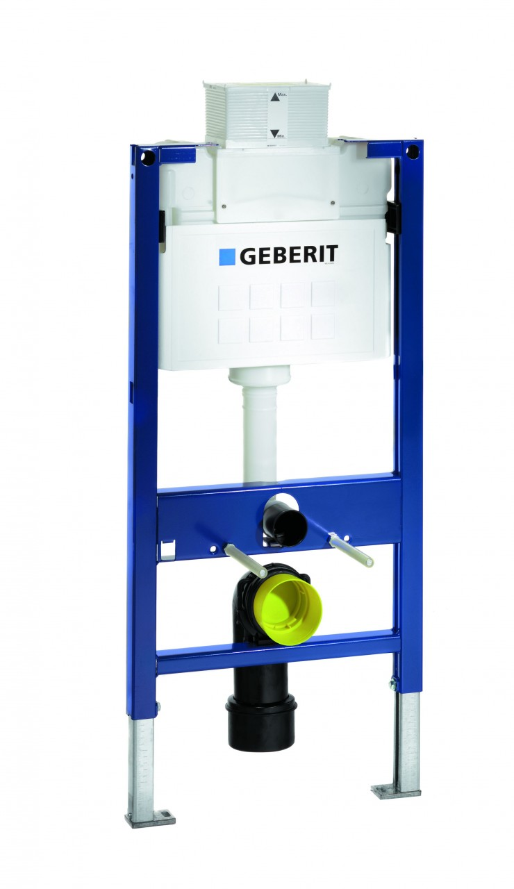 Geberit duofix wc frame for wall hung wc h98 with kappa for Geberit products