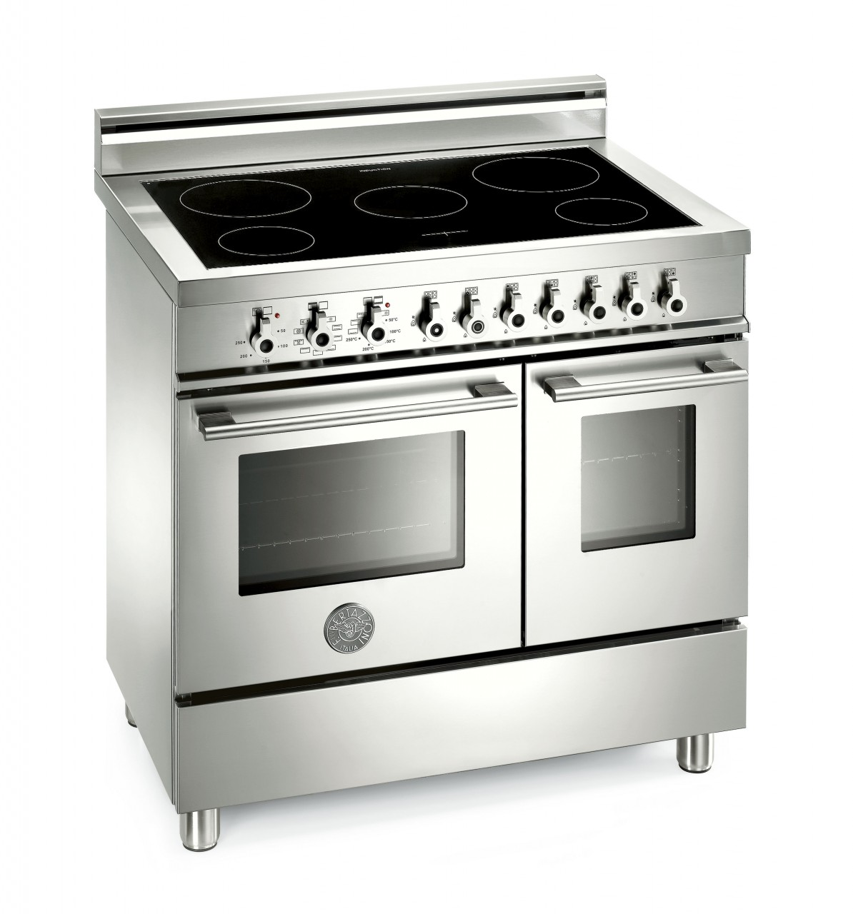 range cooker bertazzoni professional 90 induction top and electric