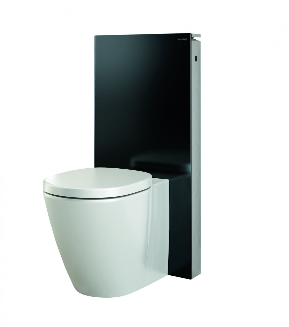 geberit monolith 101 for floor mounted wc black glass ap bath rooms. Black Bedroom Furniture Sets. Home Design Ideas