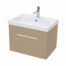 MATTEO / MONTY 1 DRAWER CAPPUCCINO GLOSS SOFT CLOSE UNIT 60 X 42CM - W/HANDLE